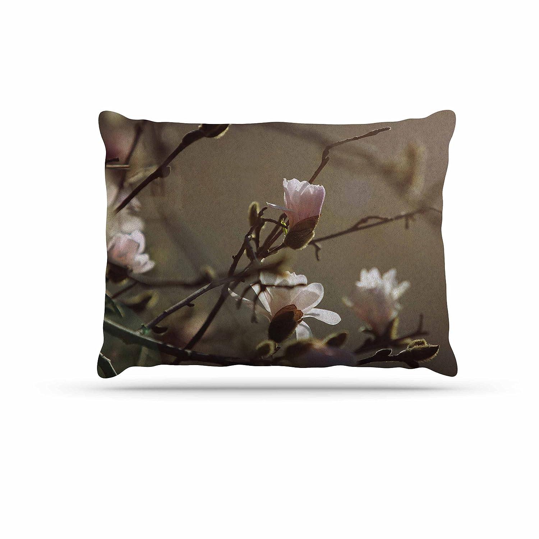 KESS InHouse Angie Turner Pink Dogwood-Digital Floral Dog Bed, 30  x 40