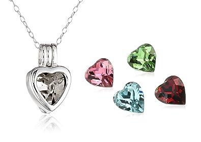 Amazon sterling silver interchangeable heart pendant necklace sterling silver interchangeable heart pendant necklace aloadofball Images