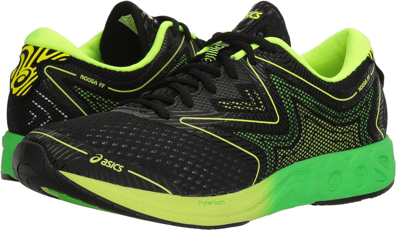 Asics T722N.9085 Zapatillas de Running, Reino Unido 8,5 Hombre Negro/Verde del Gecko/Amarillo Seguridad 8.5 Reino Unido: Amazon.es: Zapatos y complementos