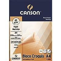 Bloco Canson Croquis Manteiga A4 40g/m² com 50 folhas