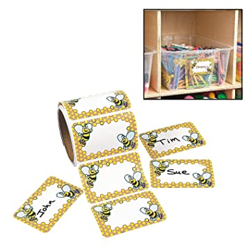 amazon com bumblebee name tags labels 100 pack 3 1 2 x 2 1 4