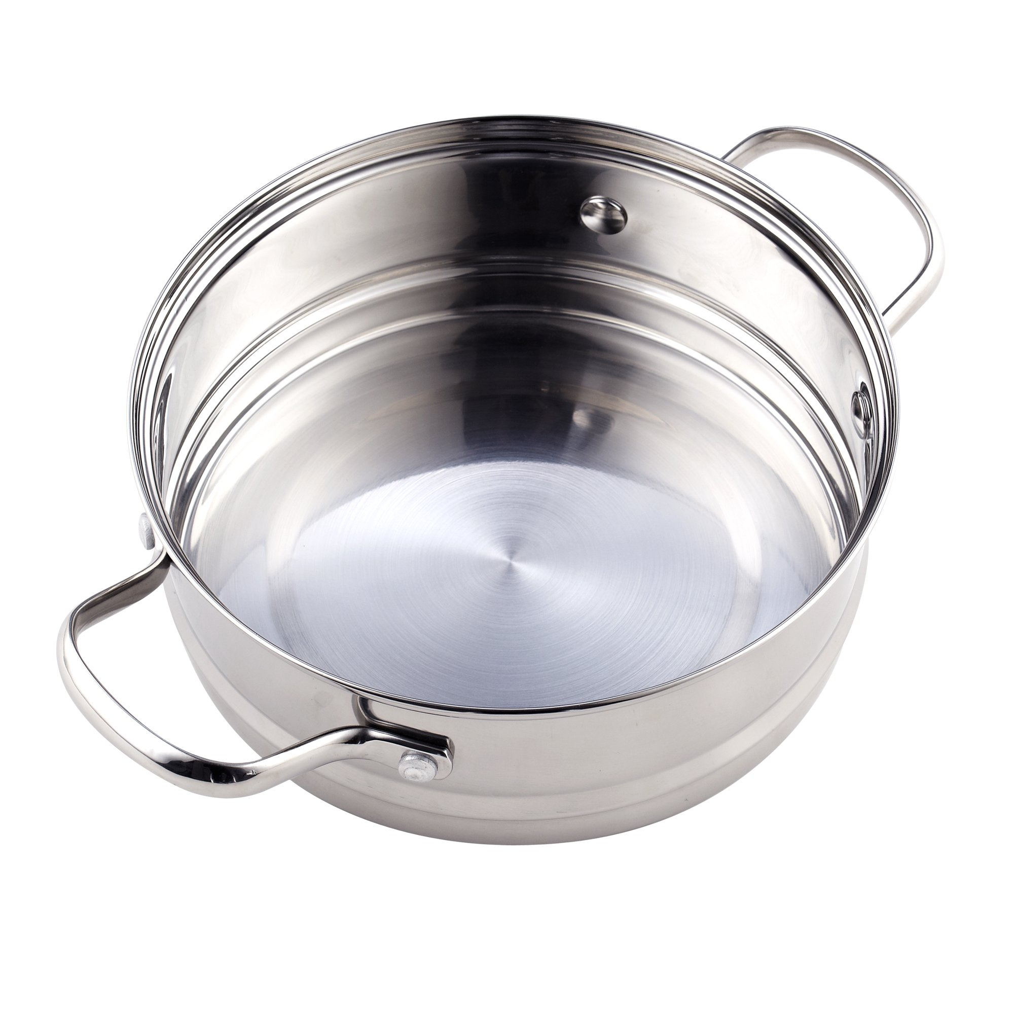 Cook N Home NC-00313 Double Boiler Steamer 4Qt silver by Cook N Home (Image #5)