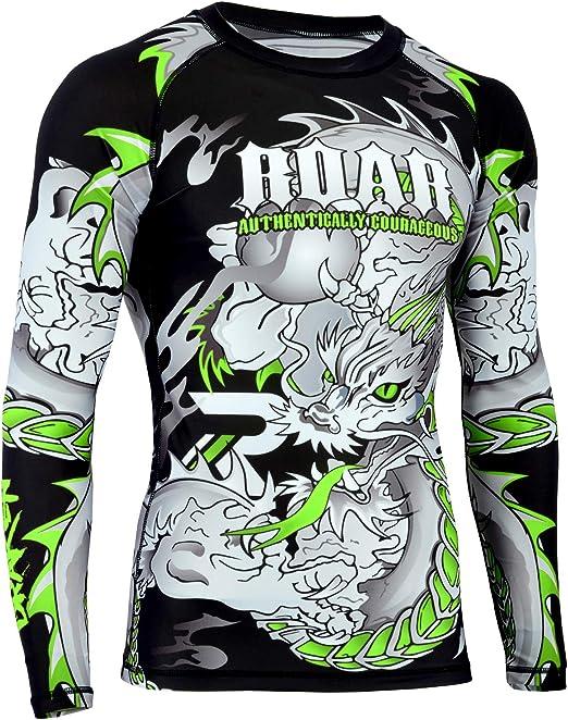 ROAR MMA Rash Guards /& MMA Shorts Set Jiu Jitsu Fight Wear UFC Training Shorts
