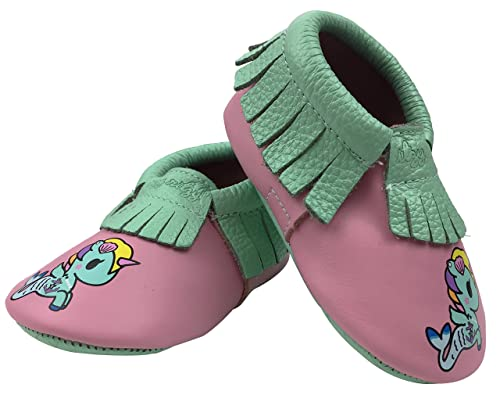 Itzy Ritzy Baby Moccasin, Sirena, 0-6 Regular US Infant