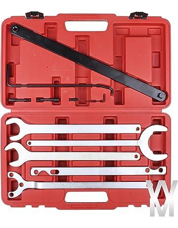 8pc Conjunto de embrague Bomba de agua llave herramienta de soporte de ventilador viscoso