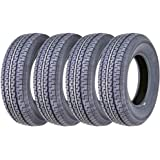 Set of 4 New Premium Trailer Tires ST205/75R15 8PR Load Range D