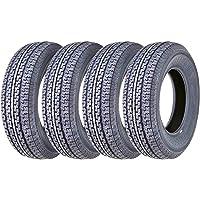 Set 4 FREE COUNTRY Premium Trailer Tires ST175/80R13 8PR Load Range D w/Side Scuff… photo