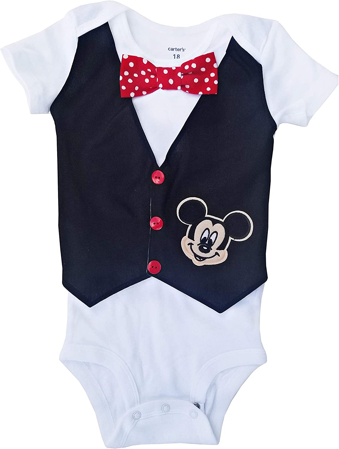 Toddler Babies Costume Disney Baby Mickey Mouse Bodysuit Vest 18-24 mths