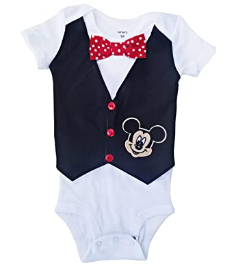 f4be4eb92 Amazon.com: Perfect Pairz 1st Birthday Baby Boy Outfit Mickey Vest: Clothing