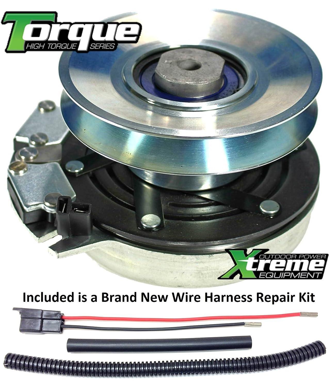 Amazon.com : Bundle - 2 items: PTO Electric Blade Clutch, Wire Harness  Repair Kit. Replaces JOHN DEERE AM126100 PTO Clutch LX280 LX288 LX289 - W/  Wire ...