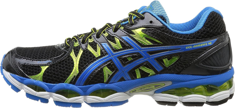 ASICS Gel- Nimbus 16 - Hombre (T435N); Negro/Azul/Lima 9842; Talla 44: Amazon.es: Zapatos y complementos