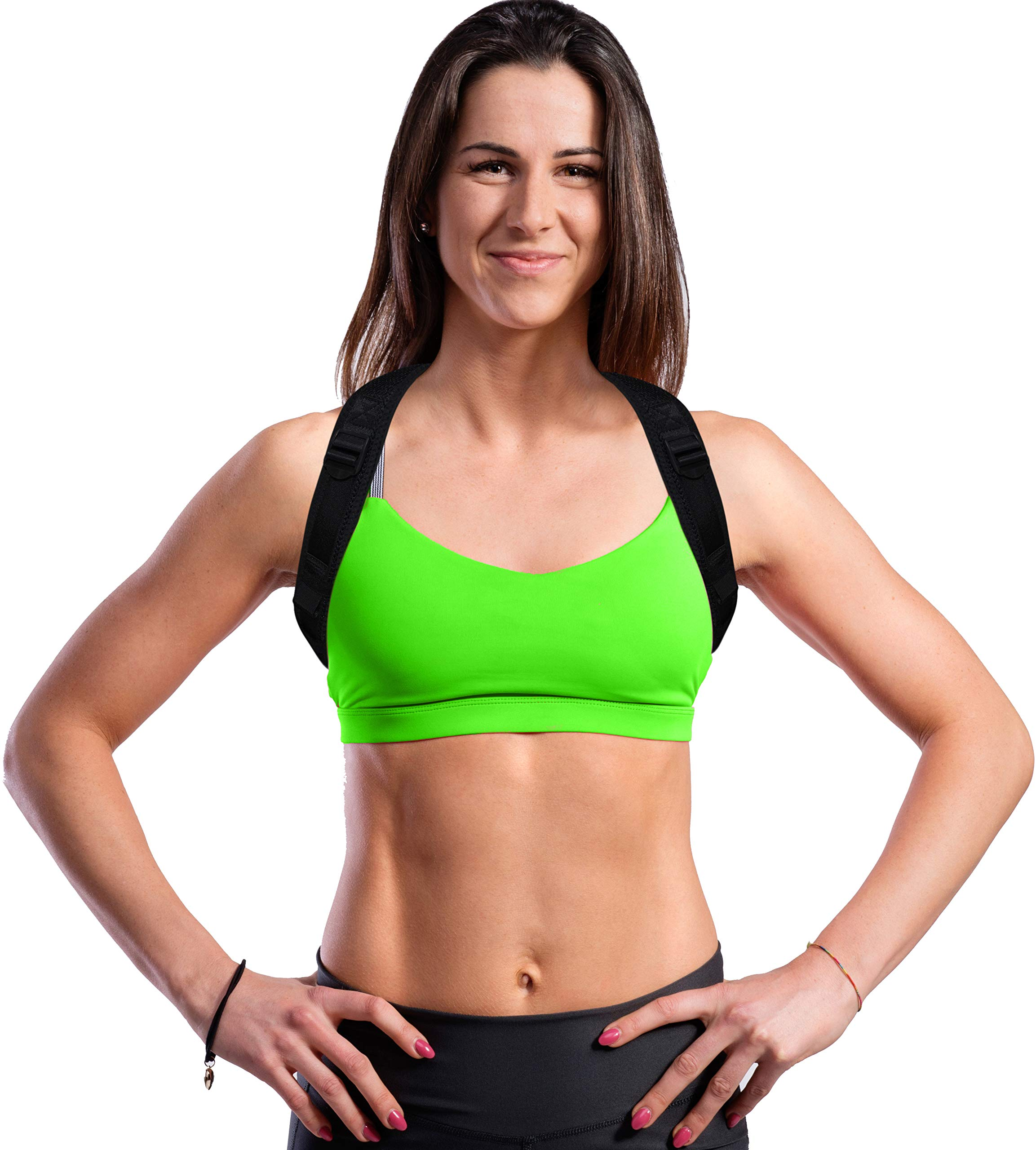 Posture Brace for Women and Men, Comfortable and Sleek Posture Corrector Relieves Back Pain and Improves Posture So You Can Feel Better and Be Happier, Fits Up To 48 Inch Chest