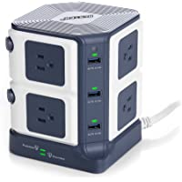 Bestek 6-USB Port 8-Outlet Power Strip Surge Protector