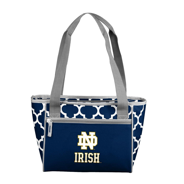 Navy Logo Brands NCAA Notre Dame Fighting Irish Quatrefoil 16 Can Cooler Tote
