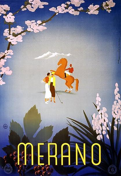 Amazon com: Merano Italy Vintage Travel Poster Polo Golf