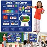 KIKIGOAL Circle Time Center Classroom Pocket Chart Educational Pocket Chart Teaching Materials Learning Calendar Weather Coun