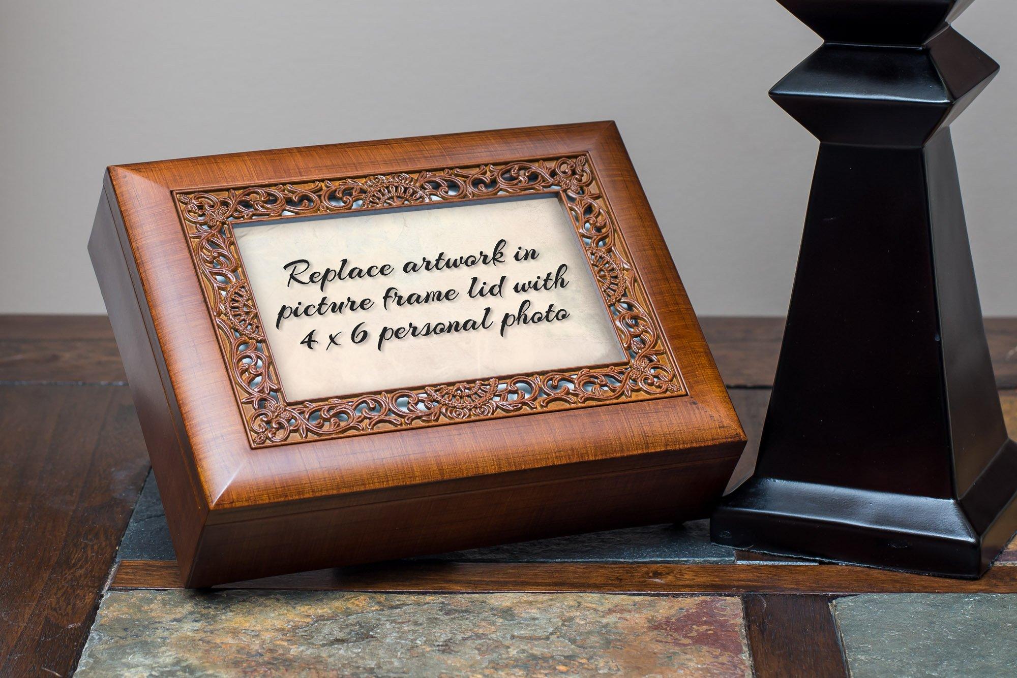 Cottage Garden Sister Woodgrain Ornate Music Box Plays Wonderful World by Cottage Garden (Image #4)