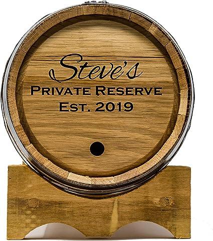 Red Head Barrels Grabado Custom 3 barriles de Roble Litro de Envejecimiento Whisky, Ron, Tequila, Bourbon, Scotch y el Vino (3 litros)