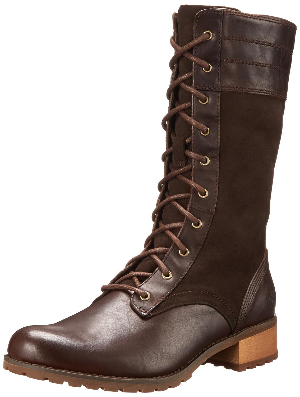 Timberland Women's Bethel Heights Mid Zip Lace Up Boot, Dark