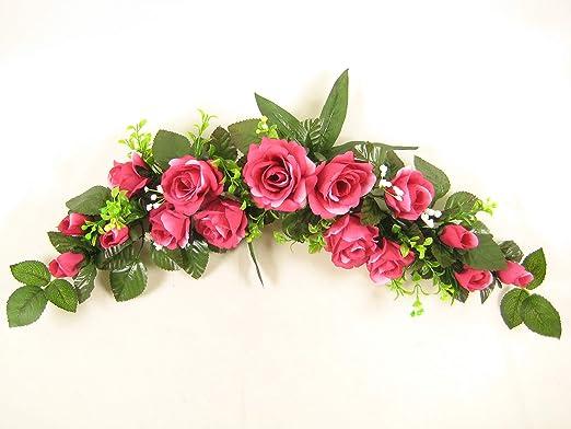 Seda Artificial flores color de rosa/mesa de centro de mesa botín ...