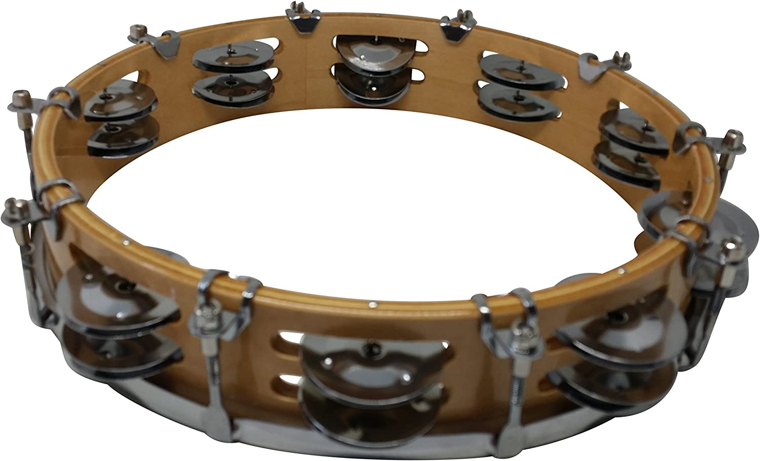 Rhythm Band Instruments RB930DJ Tunable Tambourine 10 Inch with 18 Pairs of Double Row Jingles