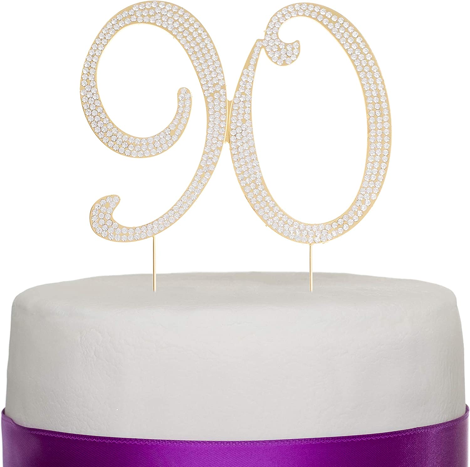 Outstanding 90 Cake Topper For 90Th Birthday Rhinestone Number Party Funny Birthday Cards Online Ioscodamsfinfo