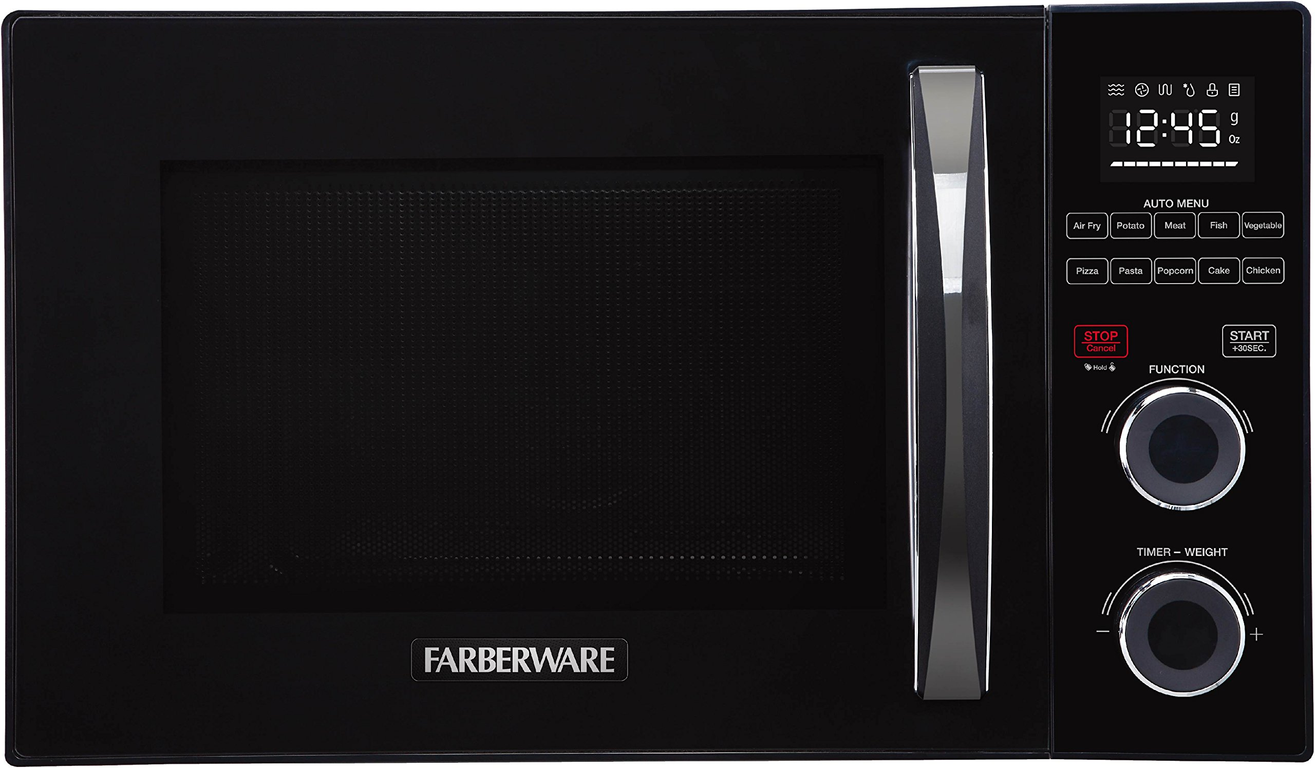Farberware Gourmet FMO10AHSBKA 1.0 Cubic Foot 1000 Watt Microwave Oven with Healthy Air Fry and Grill/Convection Function