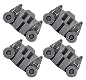 Siwdoy (Pack of 4) W10195417 Dishwasher Wheel for Whirlpool Kenmore Dish Rack AP4538395 PS2579553 WPW10195417