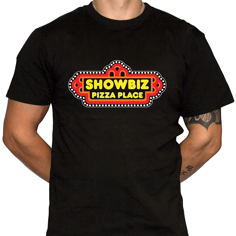 Dark Vortex Showbiz Pizza Place T-Shirt - Defunct Restaurant Chain Black