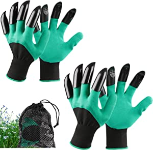 Garden Genie Gloves with Claws Waterproof Garden Gloves for Digging Planting Breathable Gardening Gloves for Yard Work