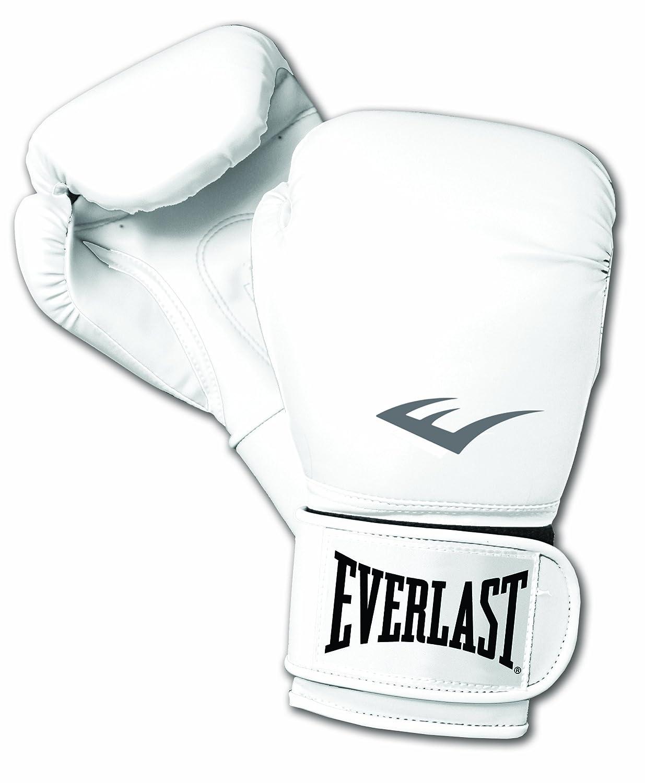 Everlast los guantes de boxeo entrenamiento estilo profesional blanco