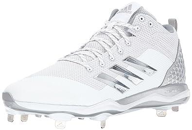 check out a9950 abf14 adidas Men s Freak X Carbon Mid Baseball Shoe, White, Silver met, Light Grey