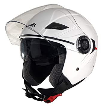 Amazon.es: Unik CJ-03 Casco Jet doble visera blanca S