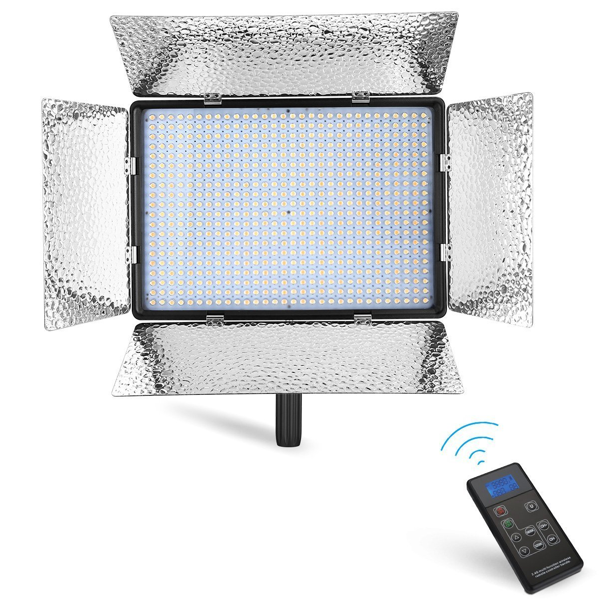 Powerextra 600 Beads Bi-Color 60W Dimmable LED Video Light Panel Adjustable Color Temperature 3200K-5600K, 2.4G Wireless Remote Control, CRI 96+ for Studio, Youtube, Photography, Video Shooting