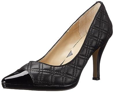 Adrienne Vittadini Footwear Women's Jantine Platform Pump, Black Soft  Nappa, ...