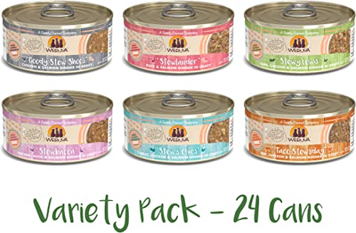 Weruva Classic Stews Variety Pack, 5.5 Ounce Cans Pack of 24