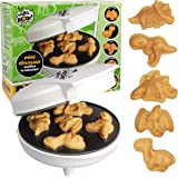 Dinosaur Mini Waffle Maker- Make Breakfast Fun and Cool for Kids and Adults with Novelty Pancakes- 5 Different Shaped Dinos i