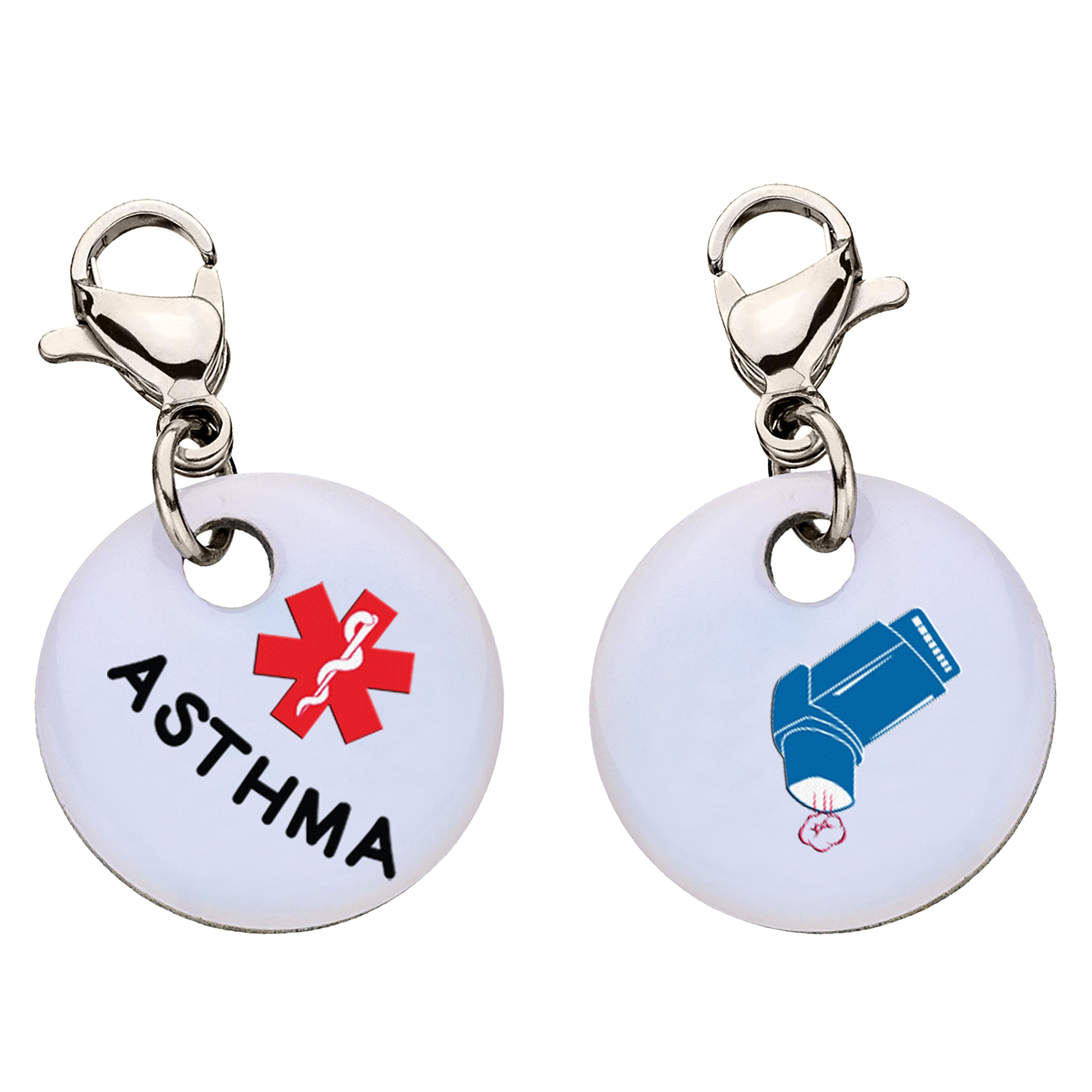 Asthma Snap-On Bracelet Charm-Parent (Stainless Steel) by My ID Square (Image #1)