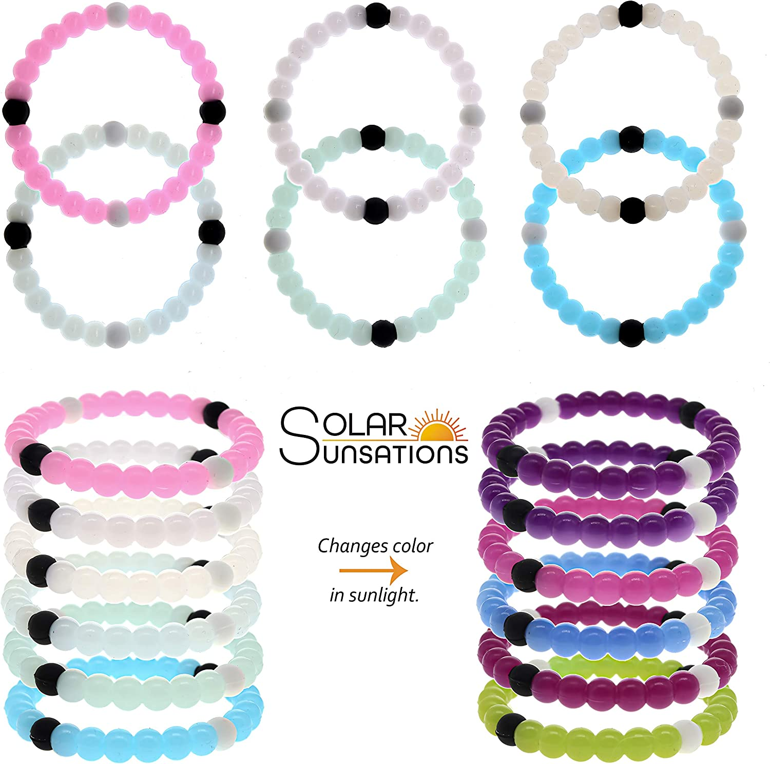 Girls Fashion Accessories Plastic Bracelets Set of 18 Assorted Colors Childrens Pretend Play or Birthday Party Favors Smart Buy U.S.A