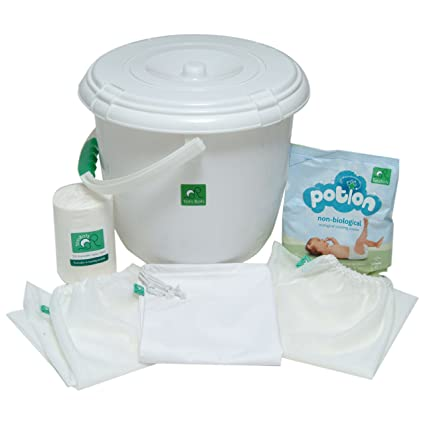 TotsBots - Set básico (papelera para pañales, 3 bolsas, 2 ...