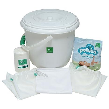 TotsBots - Set básico (papelera para pañales, 3 bolsas, 2 rollos de 100. Pasa ...