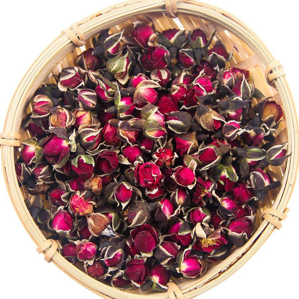 Tè Alla Rosa, Petali di Rosa, Blooming Rose, Tè Boccioli di Rosa, Tè Boccioli di Rosa, Boccioli di Rosa Essiccati, Fornitura di Vitamine, Buono Per La Salute (100g)