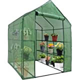 Nova Microdermabrasion Mini Walk-in Greenhouse Indoor Outdoor -2 Tier 8 Shelves- Portable Plant Gardening Greenhouse…
