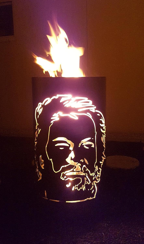 TIKO-DESIGN Bidón para hacer fuego Bud Spencer, cesta para fuego: Amazon.es: Jardín