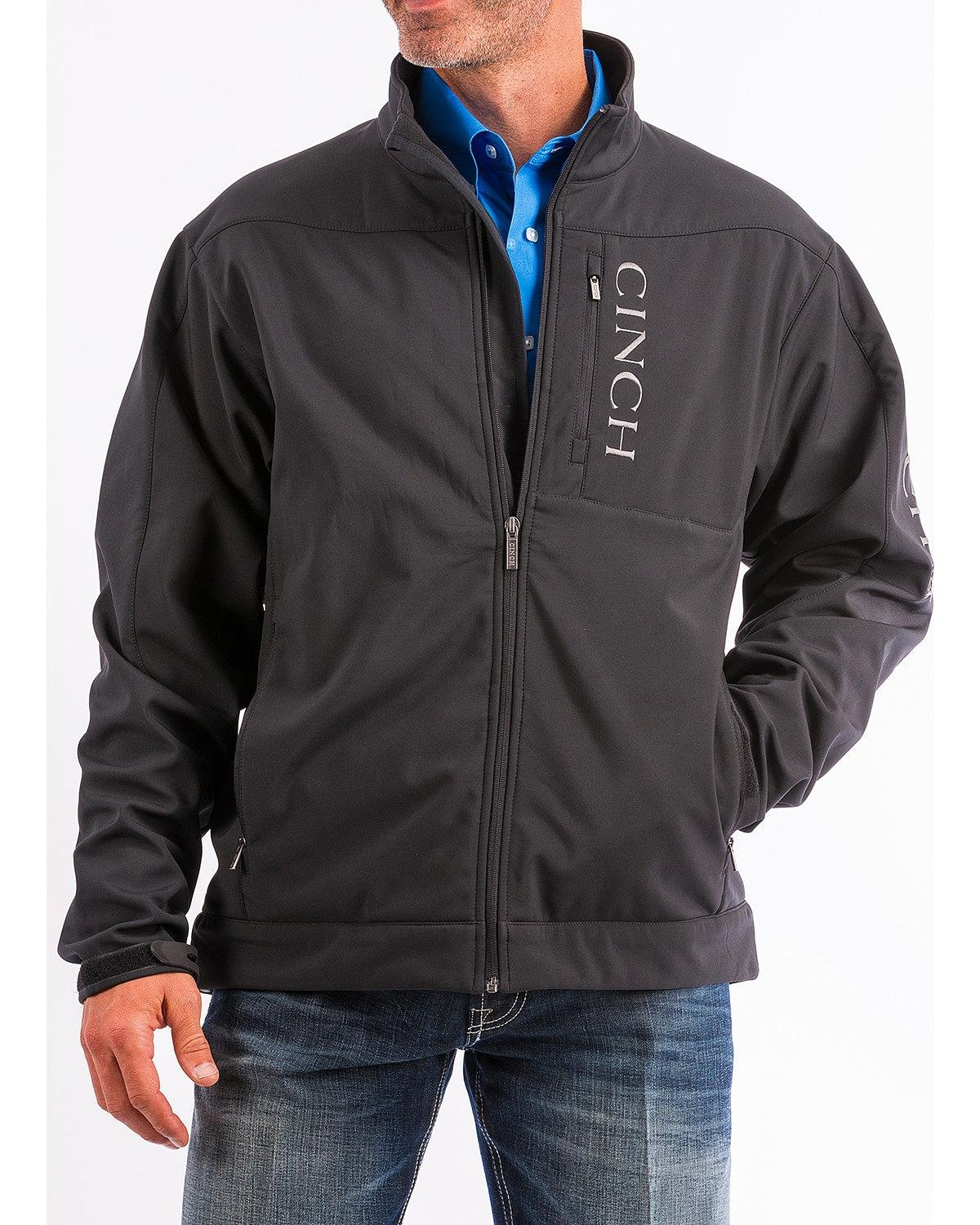 Cinch Men's Concealed Carry Bonded Jacket Black Large by Cinch