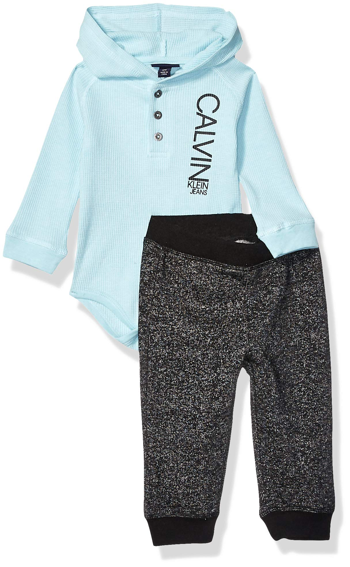 Calvin Klein Baby Boys 2 Pieces Bodysuit Pants Set