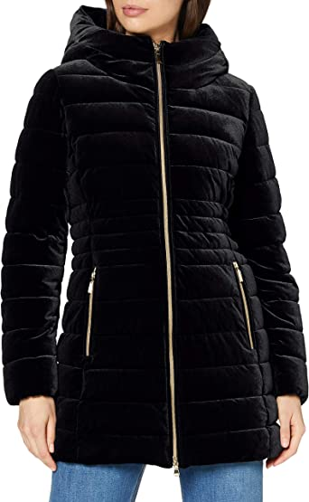 presidente falta de aliento Cordelia  Geox Women's Felyxa Long Quilted Jacket Black at Amazon Women's Coats Shop
