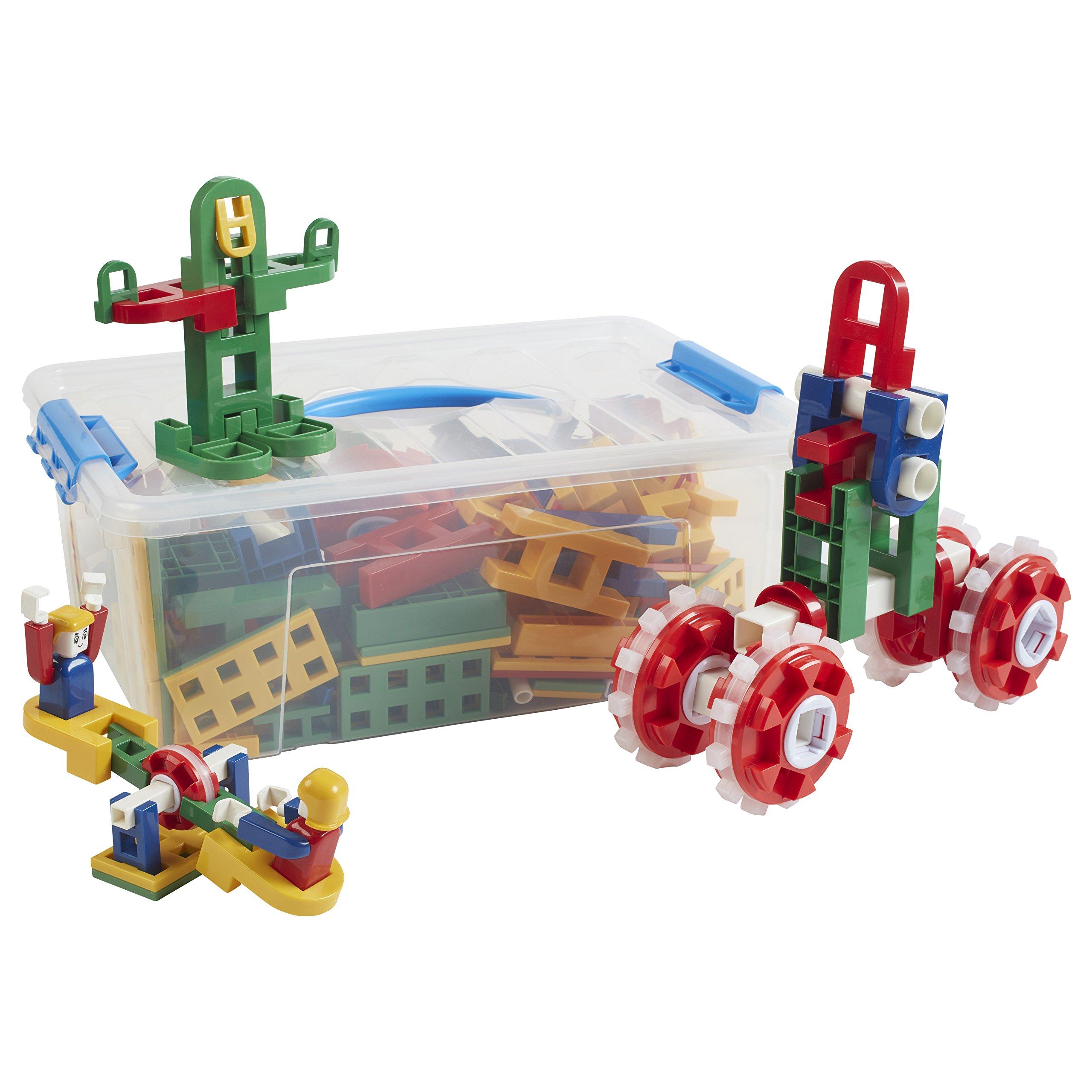 ECR4Kids Lil Engineer's Construction Kit Math Manipulatives Building Kit, Educational Sensory Learning Toys for Children (290-Piece Set)