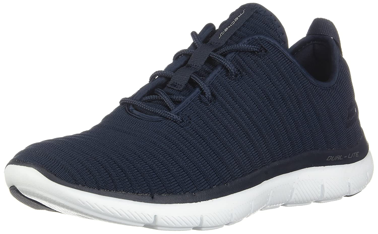 Skechers Damen Sneaker Flex Appeal 2.0 Estates Schwarz  5.5 B(M) US|Blau(navy)