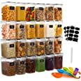 GoMaihe 1.6L Food Storage Containers 24 Pcs, Plastic Food Storage Containers with lids Airtight, Cereal Containers Storage se